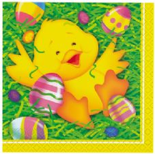 16 Easter Ducky Paper Party Napkins